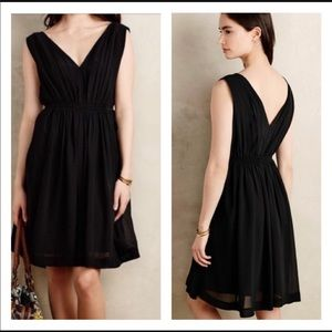 Anthro HD in Paris Black Lavana Midi Dress